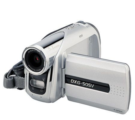 dxg 505v 5 1mp digital camcorder with mp3 player qvc com rh qvc com dxg 3.0 megapixel digital camcorder manual dxg 572v digital camcorder manual