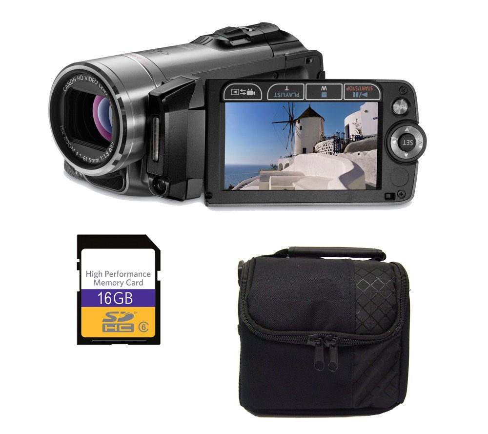 canon vixia hf200 flash memory camcorder 16gbsdhc card bag qvc com rh qvc com