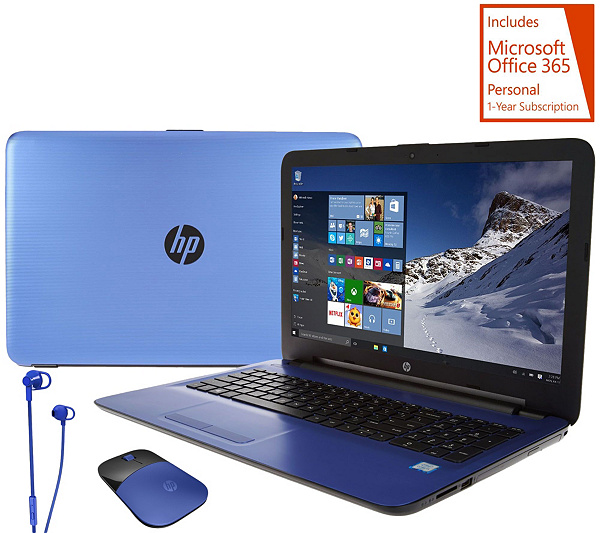 hp 17 blue edition laptop 12gb 1tb core i3 office mouse