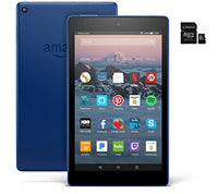 Amazon Fire 8-inch HD Wi-Fi Tablet Quad-Core w/ 32GB SD Card & App Pack Deals