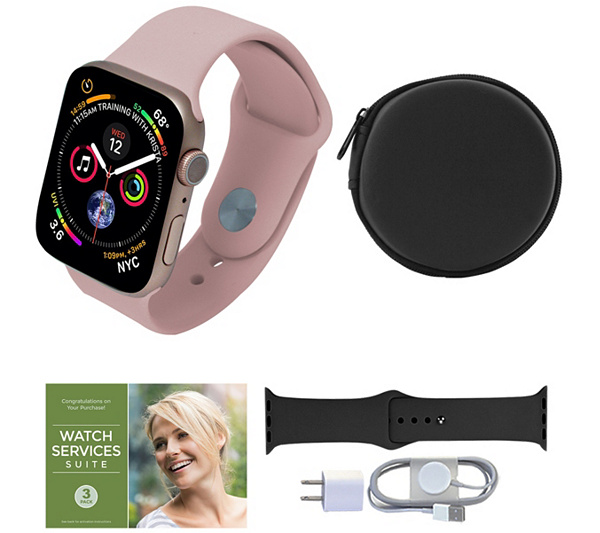 Apple Watch Series 5 Gps 44mm With Accessories by Qvc