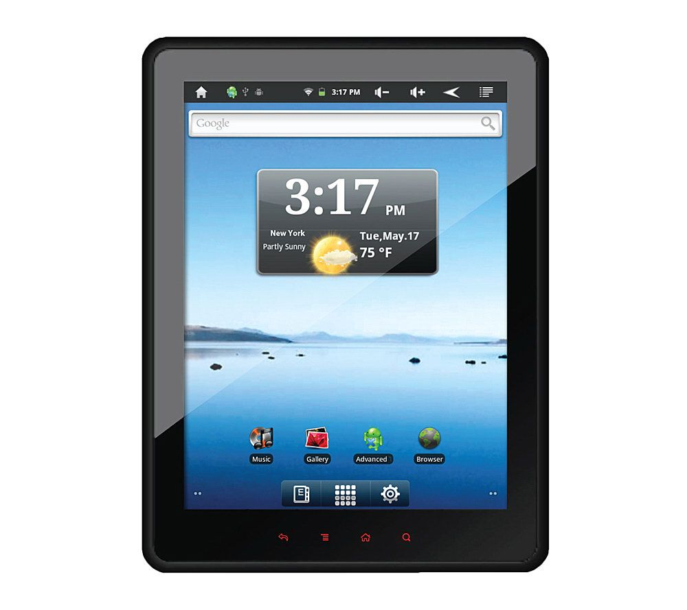 sylvania 8 4 touchscreen tablet 8gb memory android 2 3 os page 1 rh qvc com Sylvania Tablet Android 2.1 Sylvania Tablet Charger