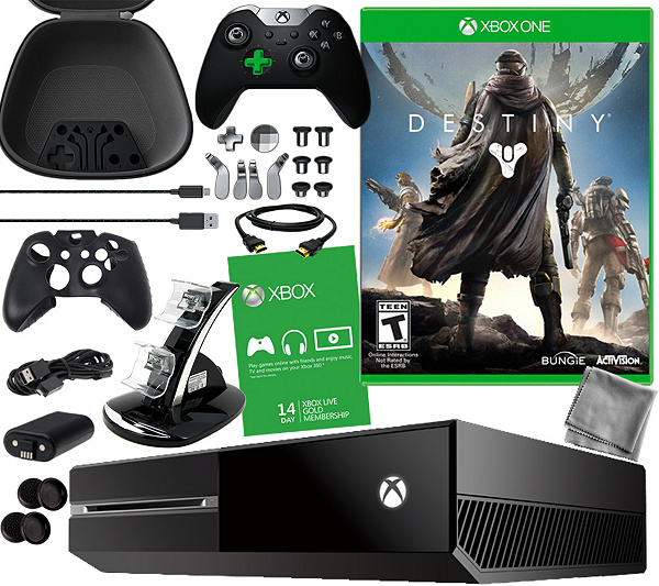 Xbox One 1TB Elite Bundle With Destiny And Accessories QVC