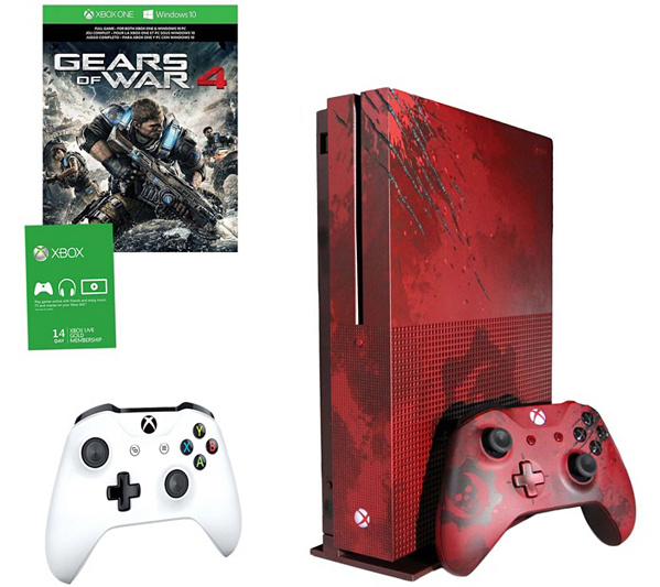 Xbox One S 2TB Gears Of War 4 Red LE Console With Controller
