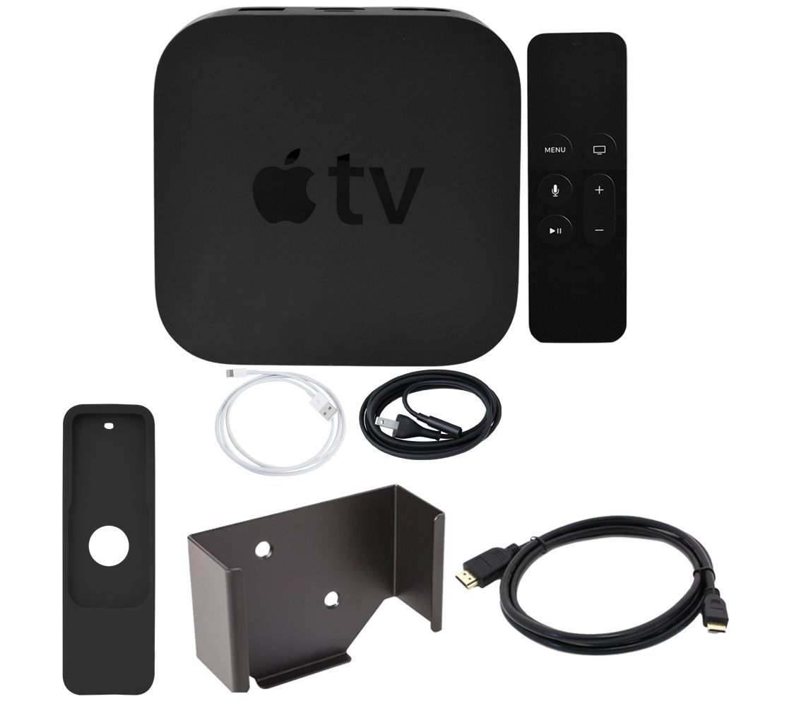 Do I Need A Special Hdmi Cable For Apple Tv: Apple TV 4K 64GB with Wall Mount and HDMI Cable u2014 QVC.comrh:qvc.com,Design
