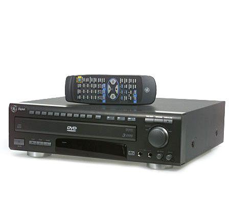ge 3 disc dvd cd player with cd r rw mp3 playback qvc com rh qvc com Portable DVD Player GE Digital DVD Player 5