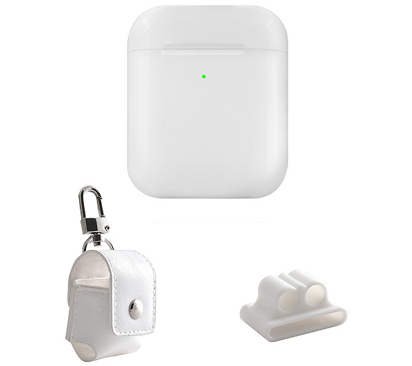 Apple Wireless Charging Case For Air Pods W/ Accessories by Qvc