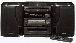 aiwa nsx v8000 mini audio system w 4 way frontspeakers qvc com rh qvc com