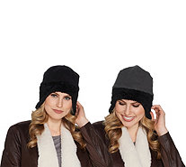 Fleece Aviator Reversible Hat with Faux Fur Trim By Sprigs - F12800
