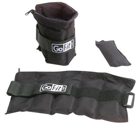 GoFit GF-5W Ankle Weights (Adjusts from .5 lb to 5 lbs)