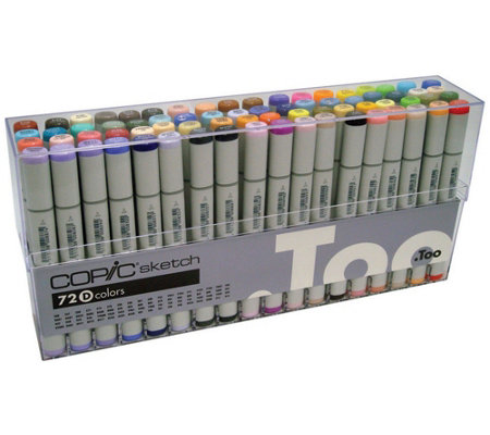 Set of 72 Copic Sketch Markers - Set D