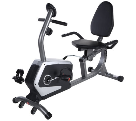 Sunny Health & Fitness Easy Adjustable Seat Recumbent Bike