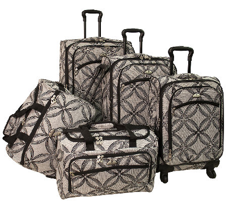 American Flyer Silver Clover 5-Piece Set Spinner Luggage