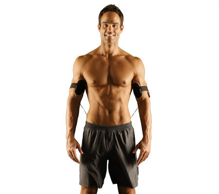 The Flex Arms Bicep & Tricep Muscle Toning System w/2 Gel Pad Sets