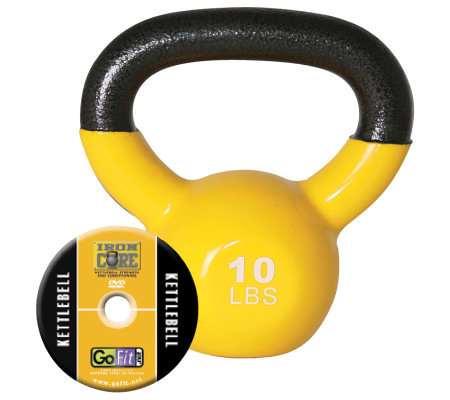 GoFit Kettelbell & Iron Core Training DVD (10 lbs/Yellow)