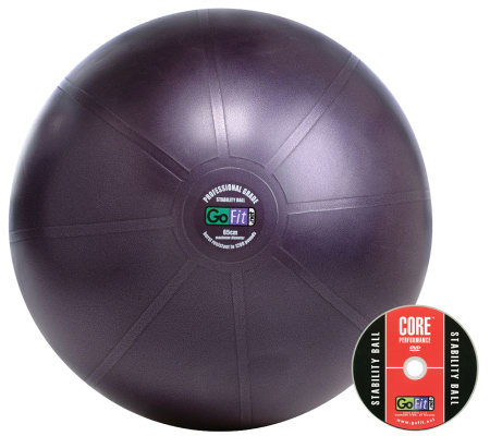 GoFit Pro 65cm Stability Ball & Core Training DVD