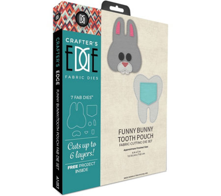 Crafter's Edge Funny Bunny Tooth Pouch Fabric Cutting Dies