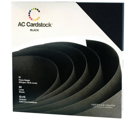 American Crafts Textured Cardstock, 60 Sheets