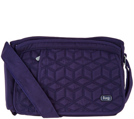 Lug Quilted Flap Crossbody Bag - Wings