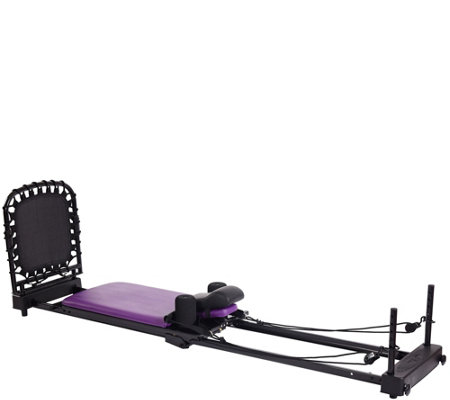 AeroPilates 4-Cord Reformer with Rebounder, Head Pillow & 4 DVDs