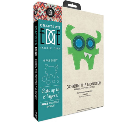 Crafter's Edge Bobbin the Monster Fabric Cutting Dies