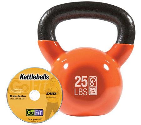 Gofit Kettelbell Hardstyle Training Dvd 25 Lbs Orange