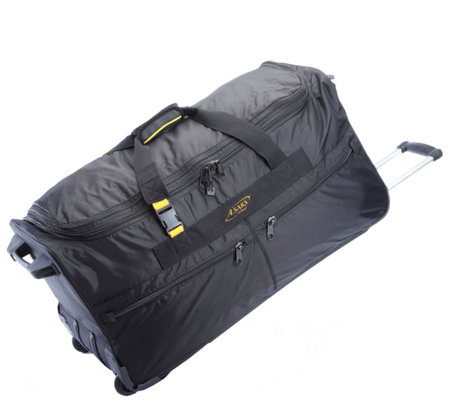 "A.Saks 31"" Expandable Rolling Upright Duffel Bag"