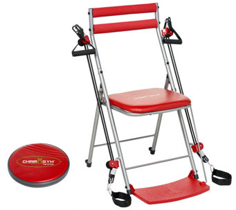 chair gym workout with 3 levels of resistance and 5 dvds f13315