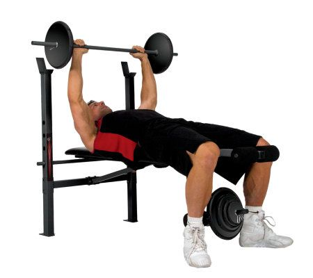 Weight bench with lb weight set u qvc