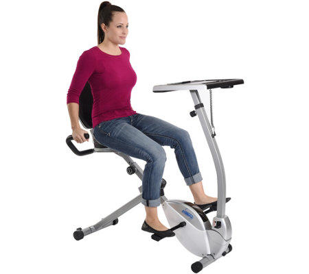 Stamina 2-in-1 Recumbent Bike Workstation & Standing Desk