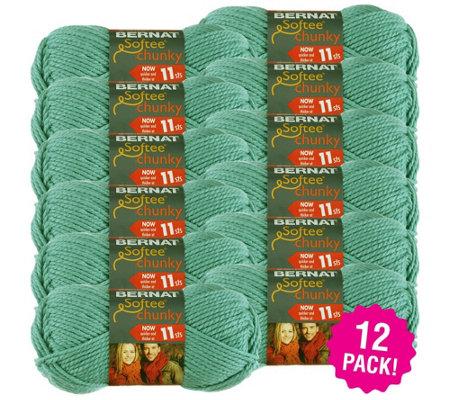 Bernat Softee Multipack Of 12 Seagreen Chunky Yarn