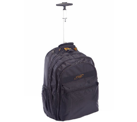 A.Saks Expandable Rolling Unisex Laptop Backpack