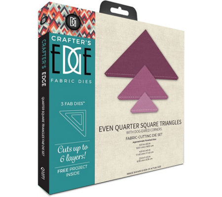 Crafter's Edge Even Quarter Square Triangles Fabric Dies