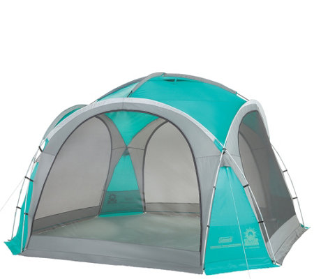 Coleman Mountain View 12x12 Screen Dome Shelterw Shade Walls