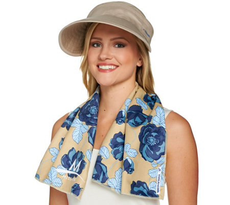 Mission Large Cooling Towel and 2-in-1 Cooling Sun Hat Set