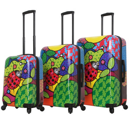 Mia Toro Italy 3 Piece Luggage Set Allegra Pop Ladybug