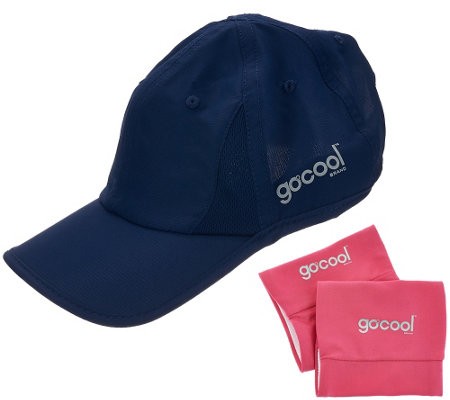 GoCool Instant Chill Hat with 2 Reversible Wristbands