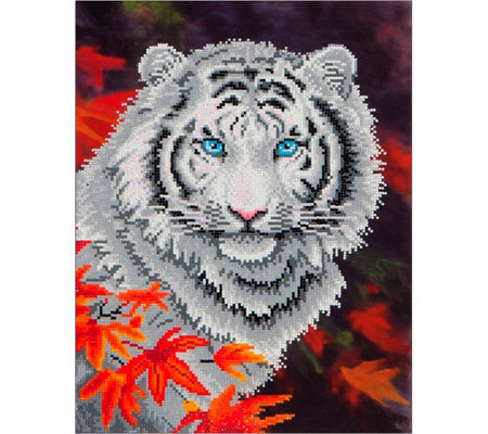 Diamond Dotz White Tiger 17 1 4 X 21 3 4 Facet Art Kit