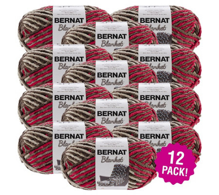 Bernat Blanket Multipack Of 12 Raspberry Triflebig Ball Yarn