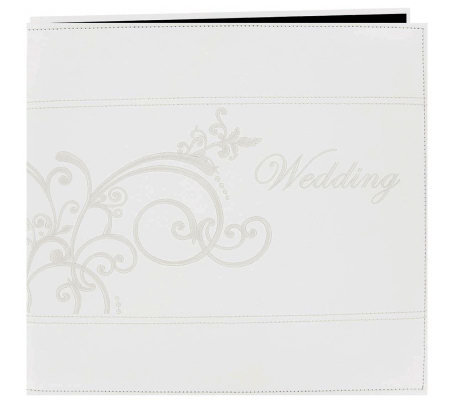 "Embroidered Scroll Faux-Leather Post-Bound Album 12""x12"""
