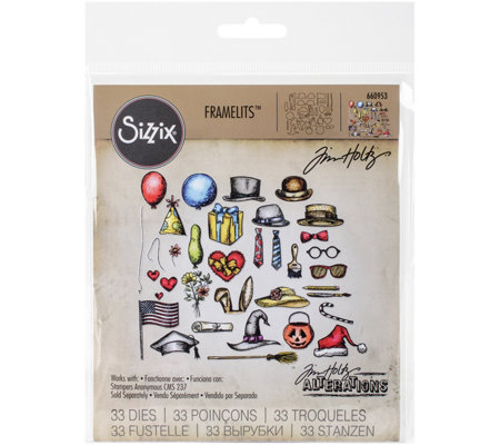 Sizzix Framelits 33-Piece Crazy Things Die Setby Tim Holtz