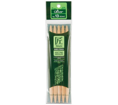 "Bamboo Double Point Knitting Needles 7"" 5/Pkg-Size 13"
