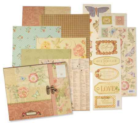 Brenda Walton 90 Pieces Brianna Gatefold Scrapbook Kit Page 1