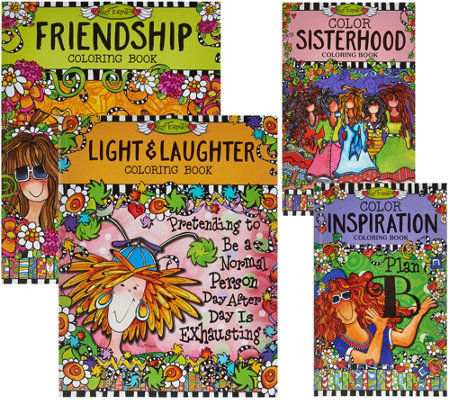 Fox Chapel Publishing Set of 4 Coloring Books by Suzy Toronto