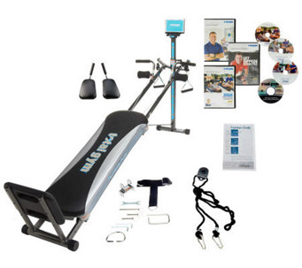 The Total Gym utilizes body resistance to strengthen and tone your body. The Total Gym works efficiently by strengthening and toning multiple major muscle groups all at the same time for a quick and effective workout.