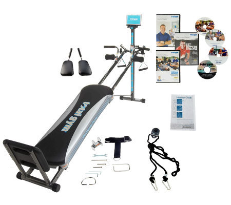 Total Gym Platinum Plus with 4 DVDs & 5 Accessories
