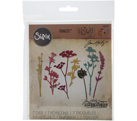 Sizzix Thinlits 7 Piece Wildflower Die Set By Tim Holtz