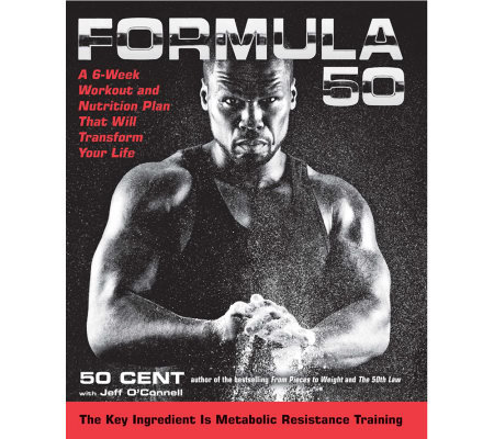 """Formula 50"" 6-Week Workout & Nutrition Plan by 50 Cent Hardcover Book"