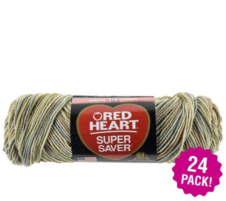 Red Heart Multipack Of 24 Aspen Supersaver Yarn
