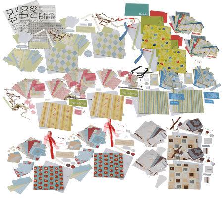 set of 12 accordion fold mini album cards page 1 qvc com